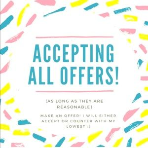 Accept YOUR Reasonable PRICE❣️
